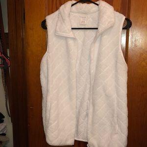 White Fuzzy Vest